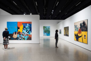 The Wick - Installation view of Mixing It Up Painting Today at Hayward Gallery, 2021. Courtesy of Hayward Gallery. Photo Rob Harris