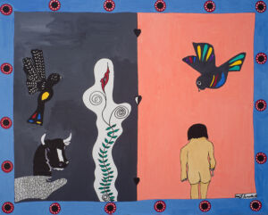 The Wick - Frantz Lamothe, Lonely Child, 2011, Acrylic on canvas, 150 x 130 cm. Courtesy of October Gallery.