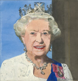 The Wick - Peter Blake, Queen Elizabeth II (Radio Times Diamond Jubilee Royal Souvenir Cover), 2012. Courtesy Waddington Custot