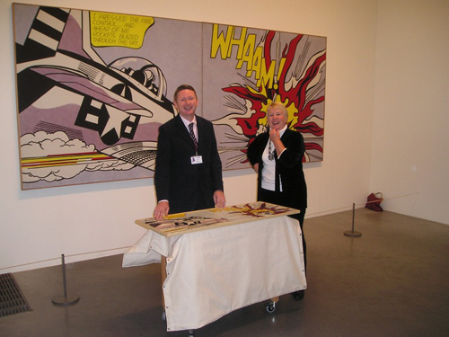 Heather Bowring tactile art interpretation of Whaam! by Roy Lichtenstein at Tate Modern
