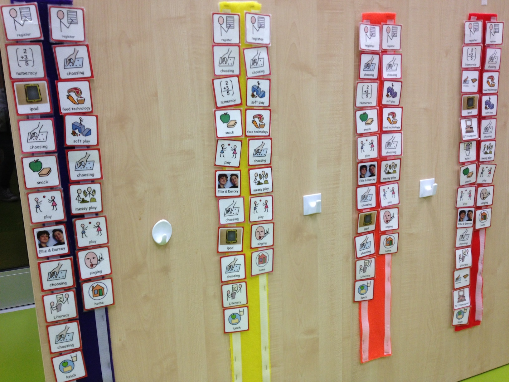 visual timetables children with autism