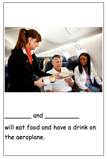 Personalised photo social story going on an aeroplane airplane autism