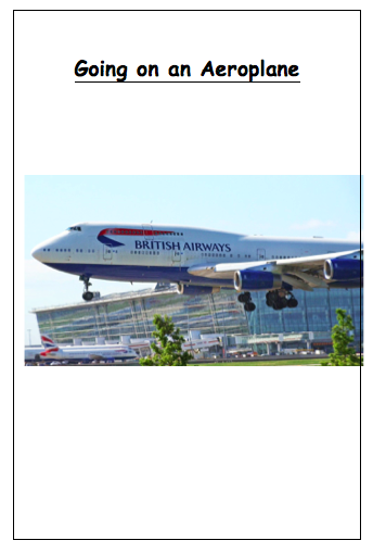 personalised photo story Personalised photo social story going on an aeroplane airplane autism
