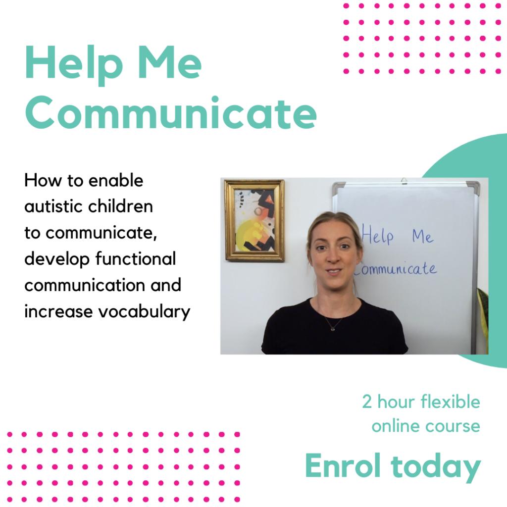 Help Me Communicate online course autism