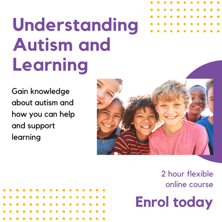 Understanding autism and learning online course