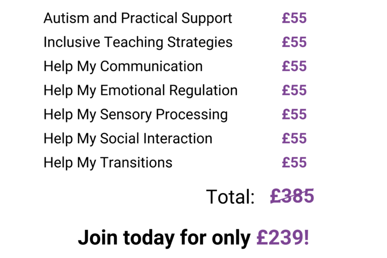 autism online course support