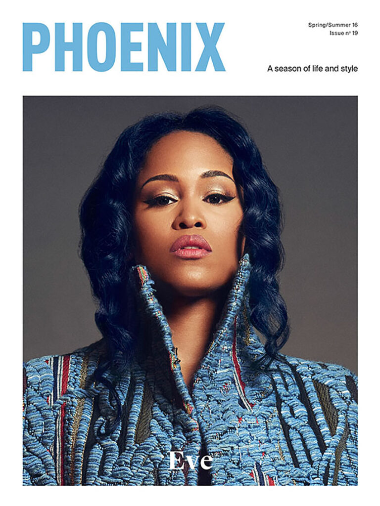 Eve poses for Phoenix magazine cover