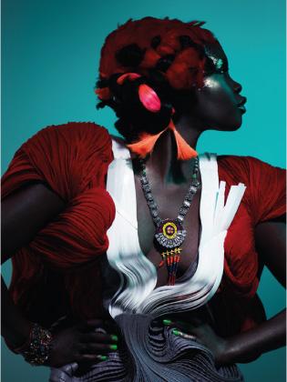 Model styled by Deborah LaTouche.
