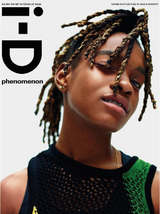 i-D magazine cover featuring Koffee. Make up by Nadia Braz