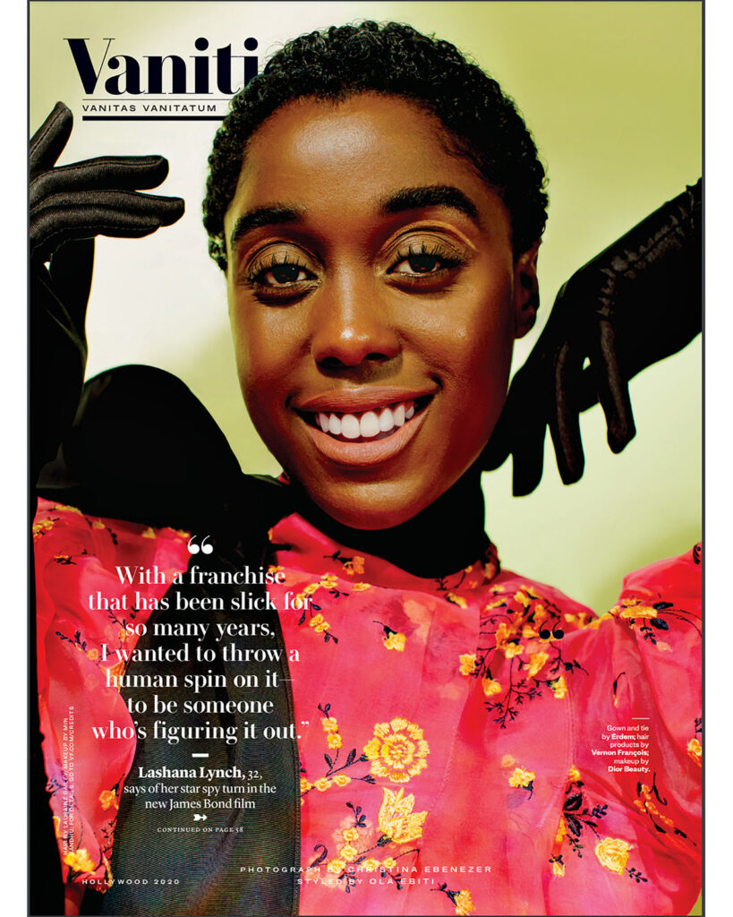 Lashana Lynch for Vanity Fair cover