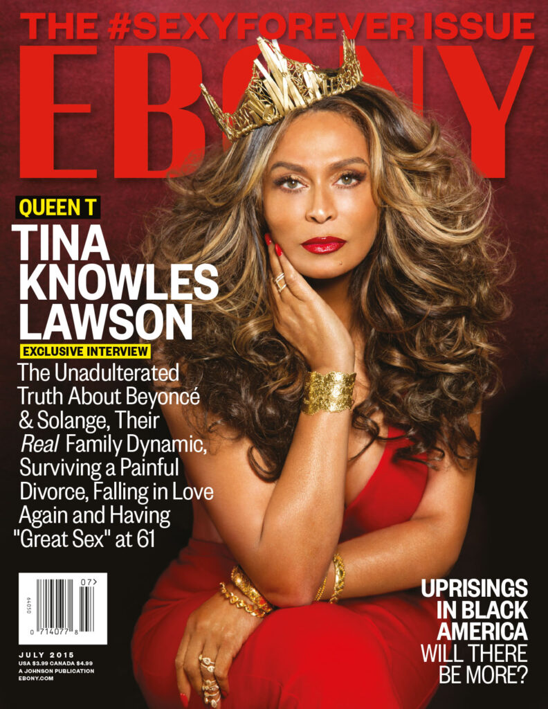 Tina knowles cover for ebony magazine
