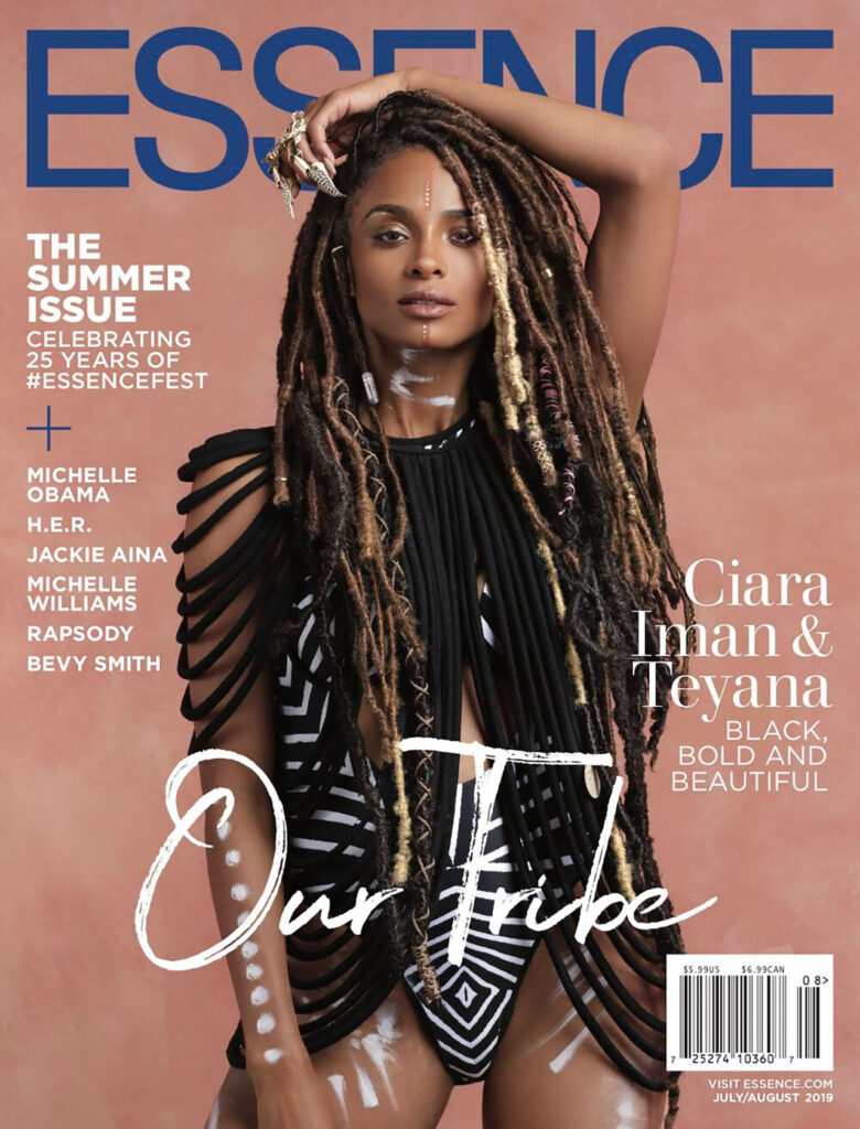 Ciara poses for essence magazine cover
