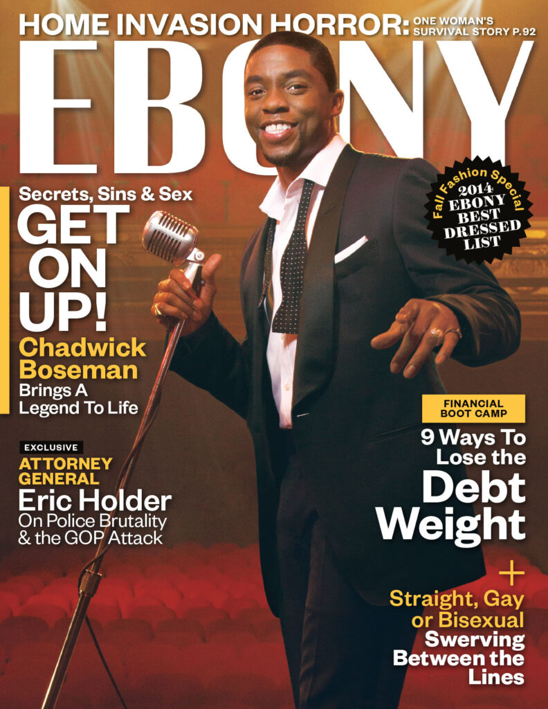Chadwick Boseman cover for Ebony magazine