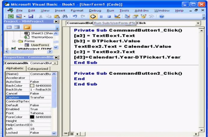 Date Time Picker & Calandar VBA Code
