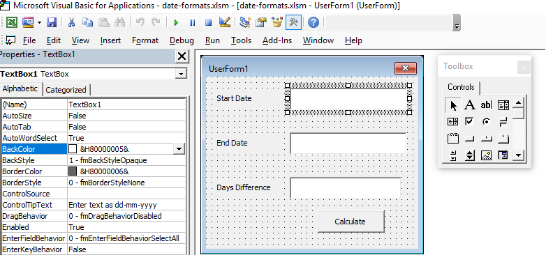 Format Function with dates VBA
