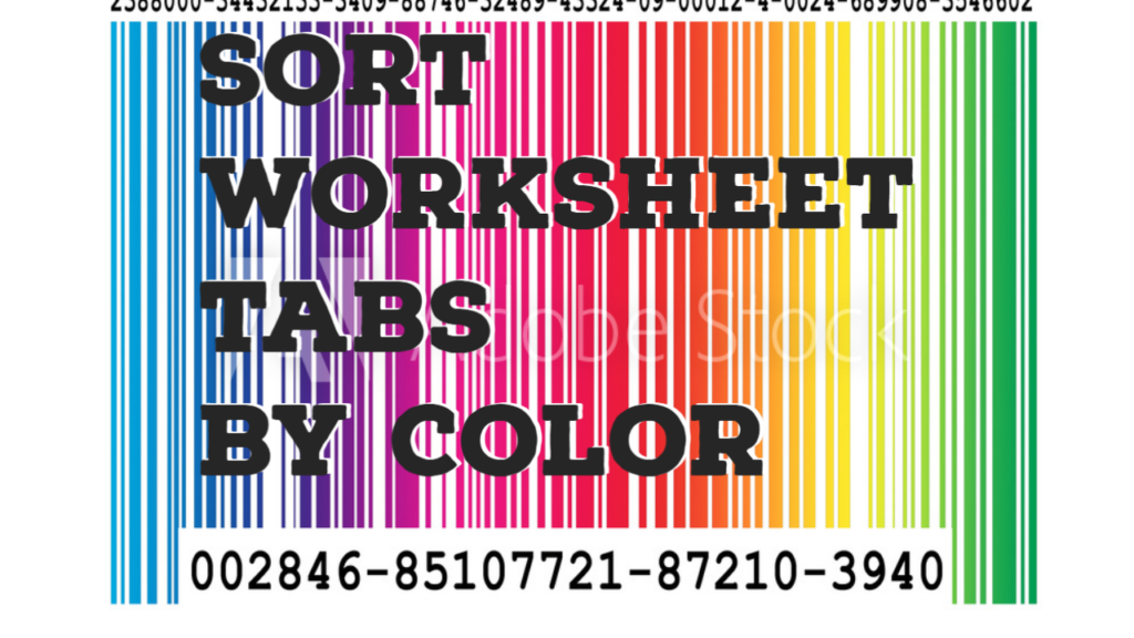 Group worksheet tabs by colors automatically