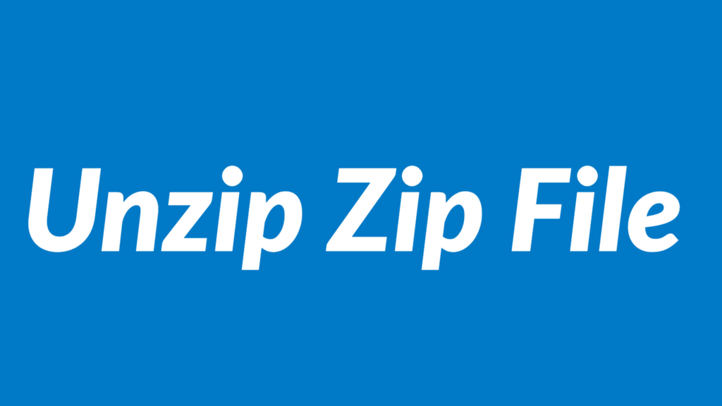 Unzip Zip File Automatically with VBA