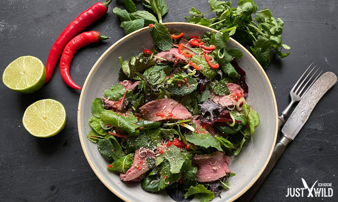 Thai Salat mit Reh
