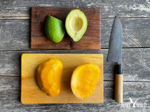 Mango Avocado Salat mit Reh - Zubereiten