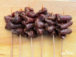 Asiatische Grillspieße mit Wildschwein - Zubereitung