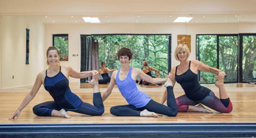 Yoga Poses in a class