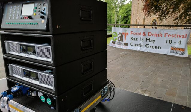 outdoor event audio visuals