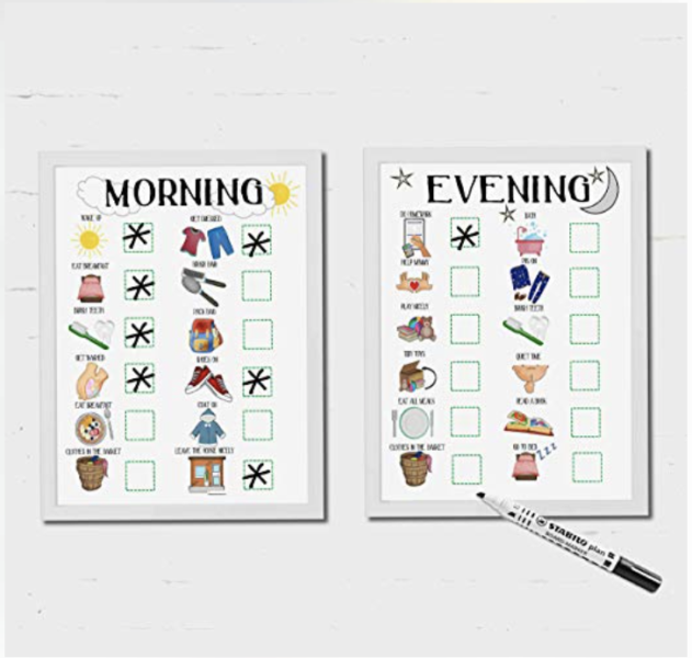 kids morning routine chart