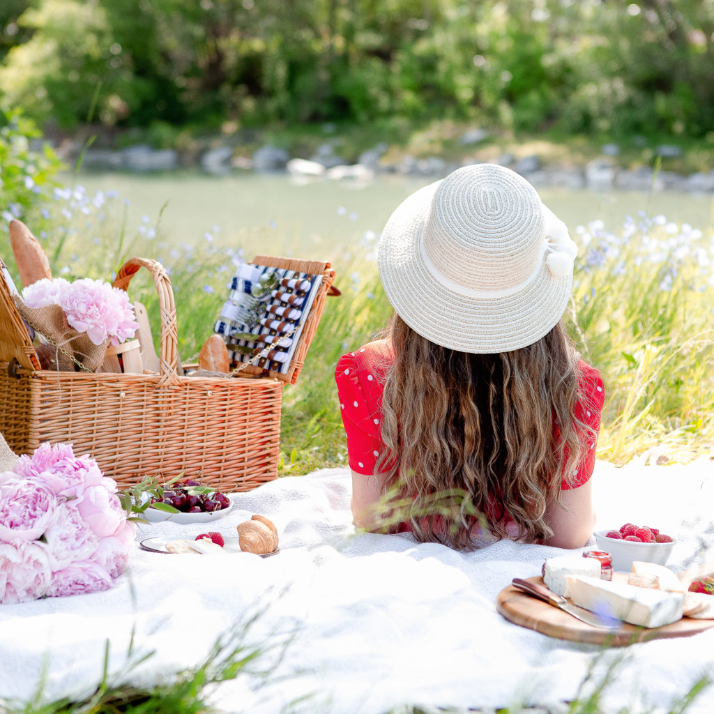 unplug from social media , two girls enjoying a picnic .