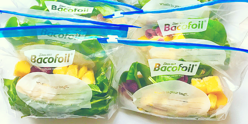 healthy smoothy meal prep bags .