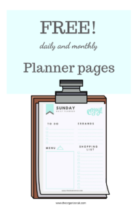 Printable Monthly Planner Pages, free printables planner,Printable Daily Planner