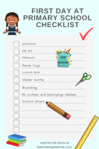 Starting primary school checklist