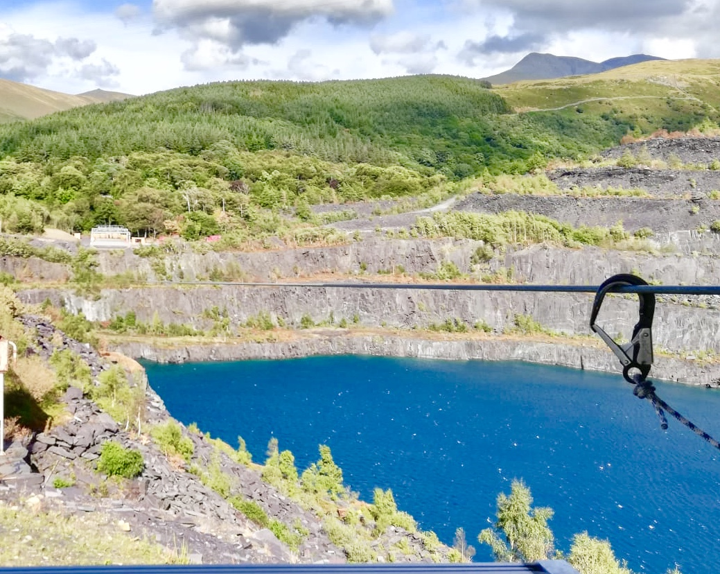 Camping in Anglesey, the fastest zipwire in the world , zipworld Wales