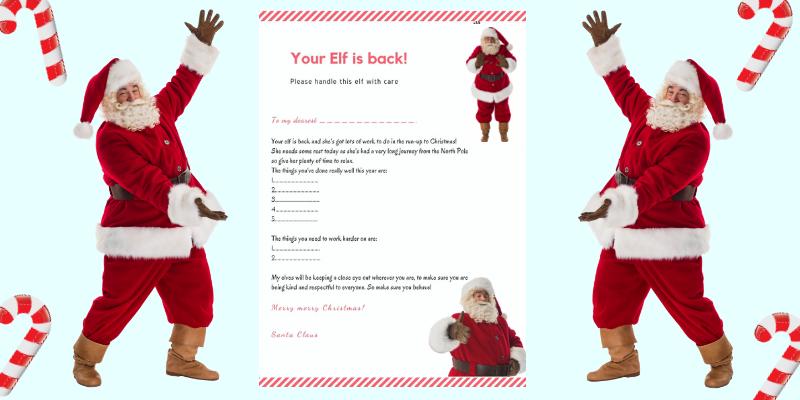Elf on the shelf arrival letter