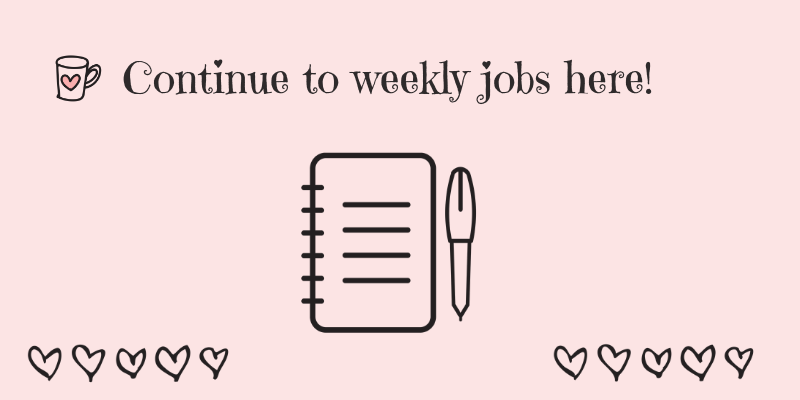 housework routine weekly jobs