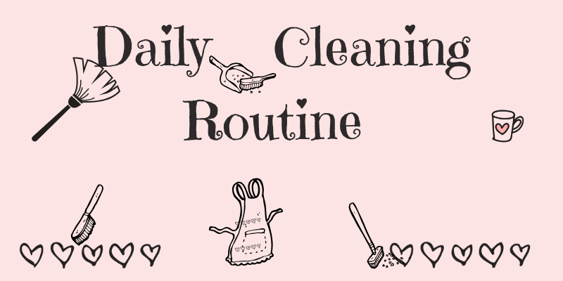 daily cleaning routine