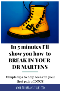 Pinnable image of how to break in Doc Martens