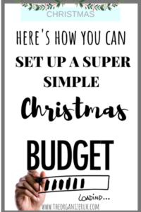 SUPER SIMPLE CHRISTMAS BUDGET