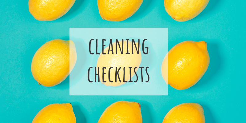 cleaning checklists