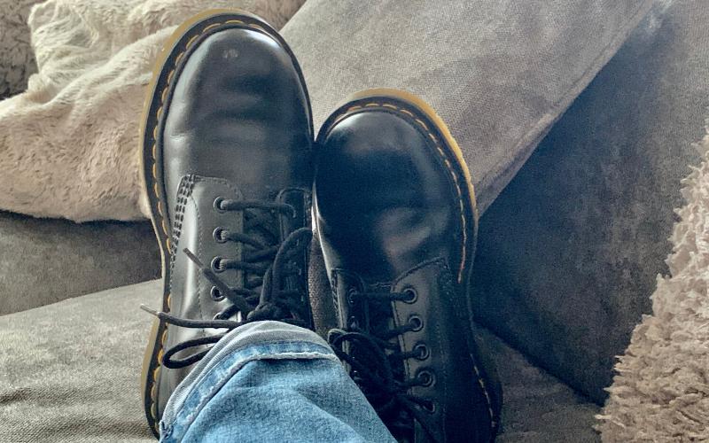 Pair of black Doc Martens