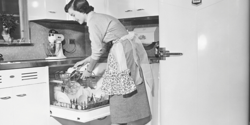 dishwasher white residue