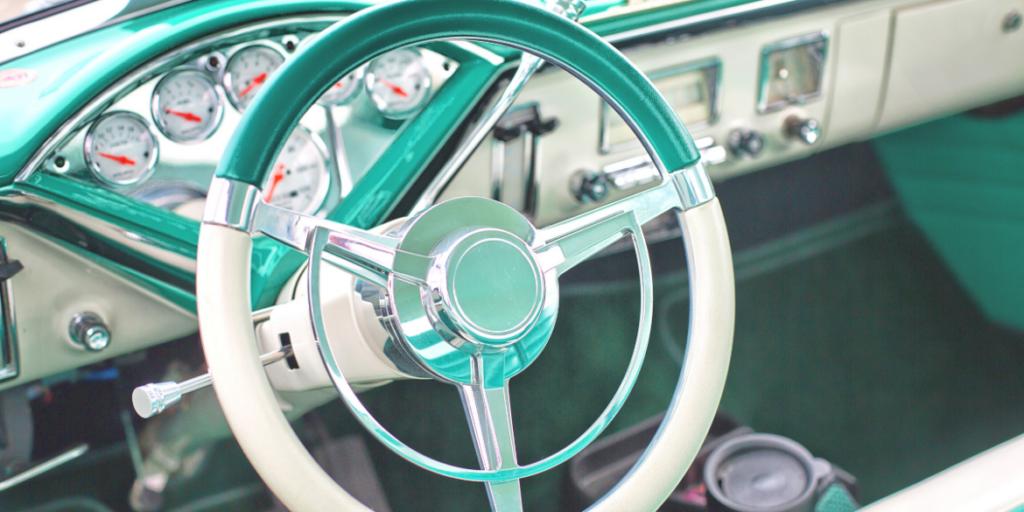 1950s steering wheel