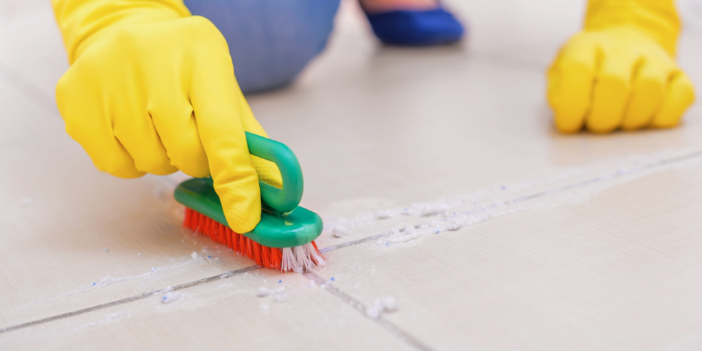 clean kitchen floor tiles