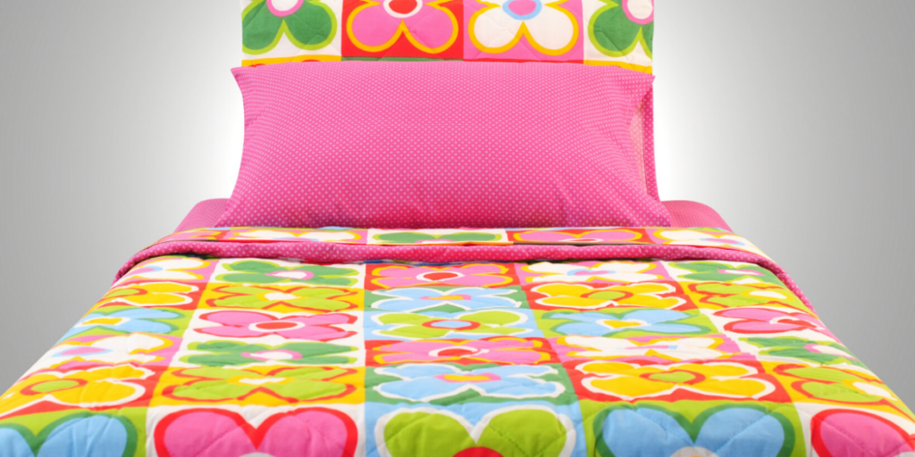 beautiful colourful bed