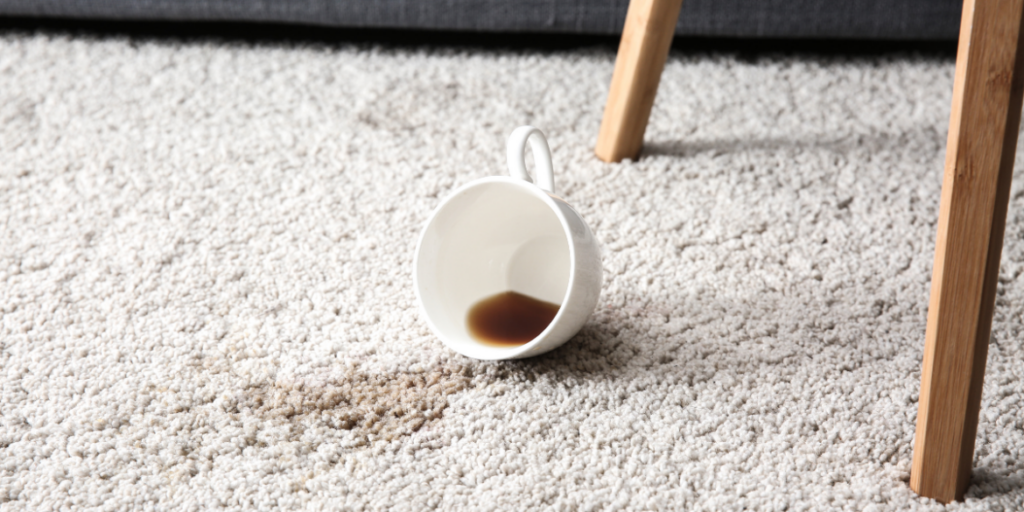 coffee spilt on carpet