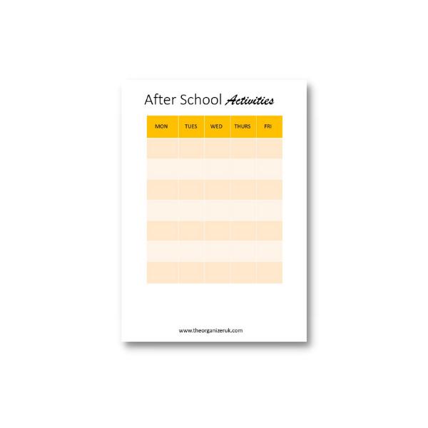 after school planner