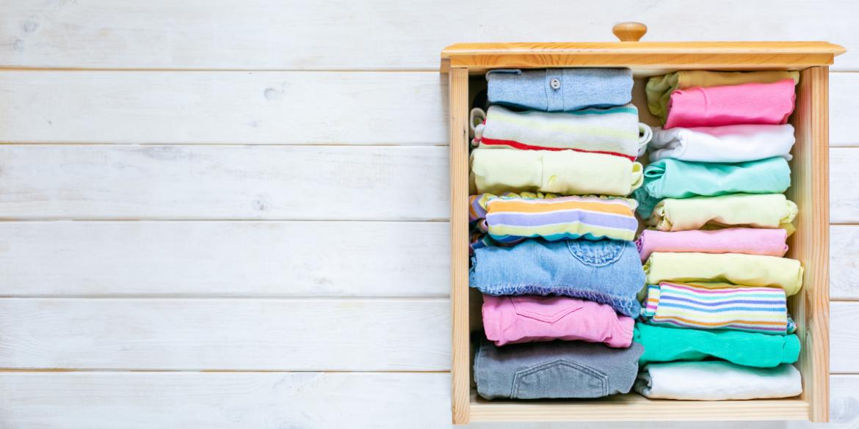 neatly folded kids drawers