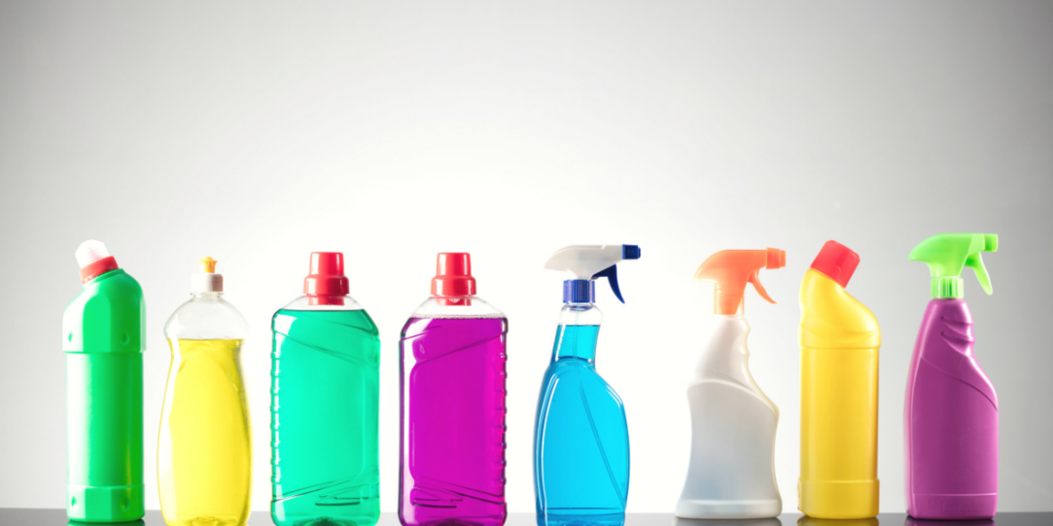 cleaning products under sink clutter