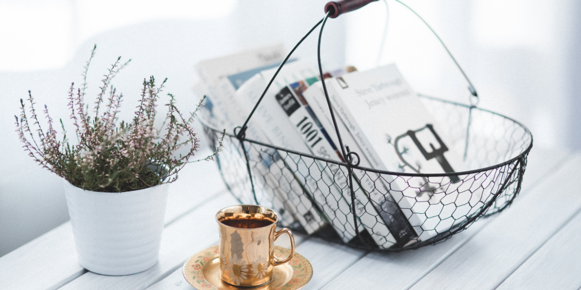 using baskets to prevent chronic clutter