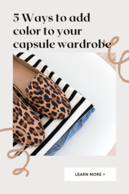 minimalist wardrobe color palette