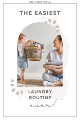 little girl helping mom with laundry